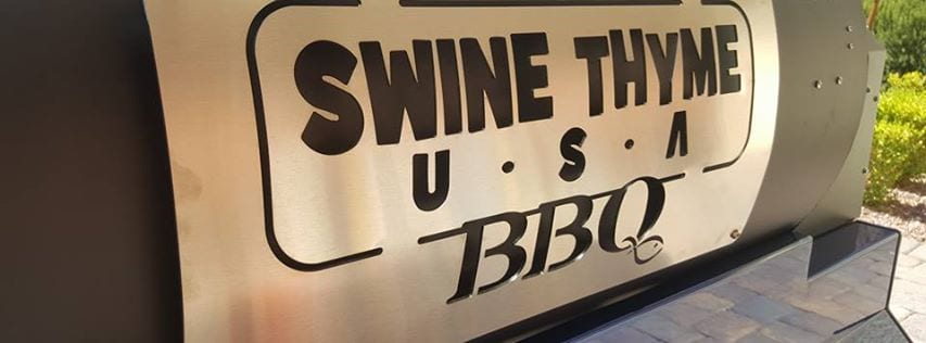 Shiny Swine Thyme U.S.A. BBQ grill plate