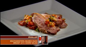 Southwestern spiced duck breast featuring the secret ingredients kumquats, goji berries and bitter melon. This was the first dish prepared for Food Network's Chopped.